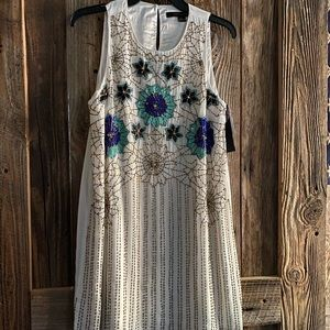 Brand New with tags beaded cocktail dress